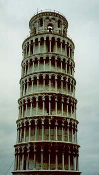 The upright Tower of Pisa